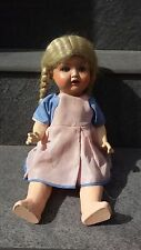 АNTIQUE CELLULOID DOLL SP 2966 1  BLONDE GIRL GLASS BLUE EYES