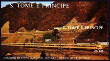 Sao Tomé and Principe 1988 ** Bl.179 Eisenbahn Railway Locomotive Train [sq3349]