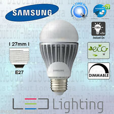 Samsung DIMMABLE 11.3w=60w ES E27 A60 LED Light Bulb/Lamp 810lm WARM WHITE 2700k