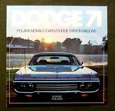 Original 1971 DODGE SALES BROCHURE POLARA MONACO CARS STATION WAGON more 16 pgs