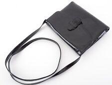 VINTAGE Ries Modell Handtasche Schwarz Damen Ledertasche Clutch Handbag Black