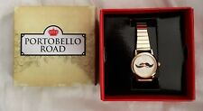 Portobello Road Ladies Watch With Moustache Dial & Detailing, Brand New In Box