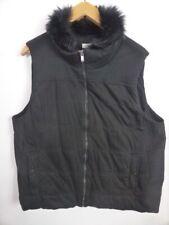 AUTOGRAPH Cute CHIC black Puffer jacket Faux Fur zip sz 18 20