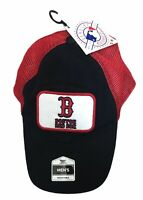 Boston Red Sox Mens Vintage Station Trucker Baseball Hat Cap MLB Adjustable NEW