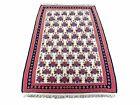 3x5 Vintage Kurdish Kilim Rug 3 x 5 Heirloom Rug Flatweave Wool Playroom Rug
