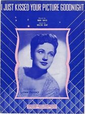 I Just Kissed Your Picture Goodnight, Joan Brooks photo, vintage sheet music