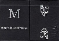 magician : anonymous Playing Cards Poker Size Deck USPCC Custom Limited Ed. New