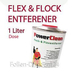 (EUR 34,95/1L) FLOCKENTFERNER 1 Liter Dose Flüssig für Flock & Flexfolien TiP!