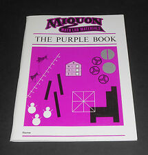 Miquon Math Lab Materials - The Purple Book by Lore Rasmussen