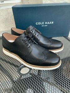NIB Cole Haan Men's Original Grand Shortwing Black / White Oxfords C26469 PK SZ