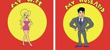 "Comedy MAKE MY WIFE DISAPPEAR 8"" SILKS 2 Magic Trick Vanish Spouse Husband Gag"