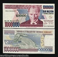 TURKEY 1000000 1,000,000 LIRA P-213 1970 Prefix O01 ATATURK DAM UNC MILLION NOTE