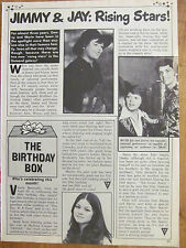 Jimmy and Jay Osmond, Full Page Vintage Clipping, Osmonds Brothers