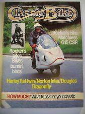 Classic Bike Magazine. No. 32. September, 1982. Rocker's bike Matchless G15 CSR.