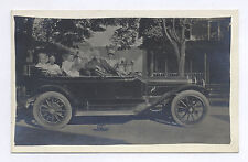 RPPC EARLY FULLSIZED CAR & GERMAN TIN WINDUP TOY SIDE BY SIDE, CYKO, B/W  PHOTO