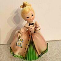 Vintage Inarco ceramic girl planter flowerpot vase 1963 collectible home decor