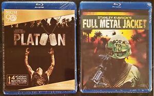 2 Blu-ray Lot - New - Platoon + Full Metal Jacket - Stanley Kubrick / War