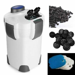 external cylinder filter 265 GPH fresh/salt 100 gallon aquarium free med3 stage