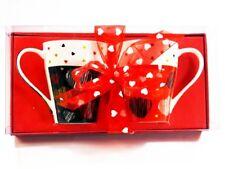 2 set Tassen Herzmotiv Geschenkverpackung Valentinstag Love Liebe Tasse Neu OVP