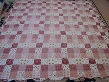 Nice Printed Cloth Granny Square Pattern Quilt
