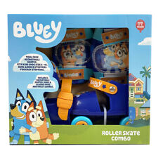 Bluey Roller Skate Combo With Protective Pads and Wrist Guards