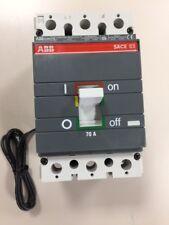 ABB SACE S3 S3N S3N070TW Circuit Breaker 3 Pole 70 AMP 600 VOLT 12VDC SHUNT