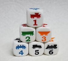 DICE - KOPLOW'S 18mm *TRAIN* DICE - SIX TRAIN CAR IMAGES, ONE ON EACH SIDE