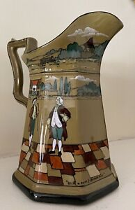 Arts & Craft Buffalo Pottery Pitcher (9 inches tall)