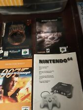 Assorted N64 Nintendo 64 Manuals