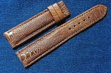 20mm GENUINE Brown OSTRICH Leg LEATHER Skin WATCH STRAP BAND!Handmade#P1