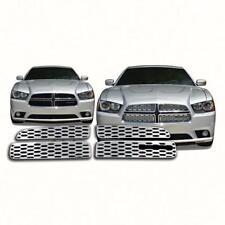 FITS 2011-2014 Dodge Charger SE / SXT / RT 4 Piece Chrome Grille Insert # GI/95