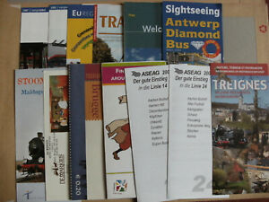 13 Various Transport Bus Rail Leaflets & Timetables Germany & Belgium Inc ASEAG