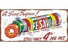 NEW Lifesavers tin metal sign