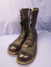 Vintage Vietnam Era High Top Black Combat Boots - GREAT SIZE ~ 10.5