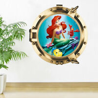3D Submarine Mermaid Room Home Decor Removable Wall Stickers Decals Decoration