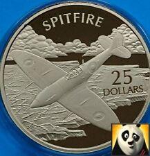 2005 Isole Salomone $25 DOLLARI spitifire .999 argento e oro Proof Coin