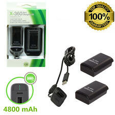 2x 4800mAh Battery Pack Charging Charger Cable for Xbox 360 Wireless Controller