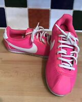 Nike Cortez GS Shoes Retro Low Trainers Pink White 749512-601 2015