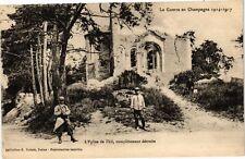 CPA TRAINEL - l'Église de Thil, completement détruite (179084)