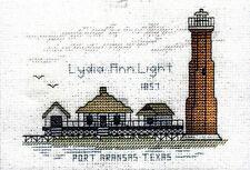 Cross Stitch Kit ~ Historic Lighthouse Lydia Ann Light, TX #HD238 OOP SALE!