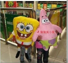 80cm Plush Yellow SpongeBob Squarepants +70cm Patrick Cushions/Pillows Toy New