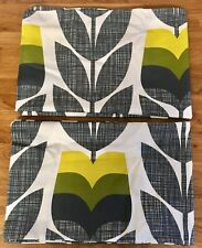 Orla Kiely Rosebud Scribble in Corn Yellow 2 Housewife Pillowcases Percale New