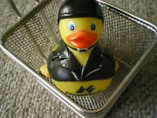 harley biker rubber duckie in a deep fry basket  funny rare and unique accent in