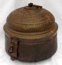 Antique Hand Carved Copper Pot Box Beautiful Design Storage Box Collectible