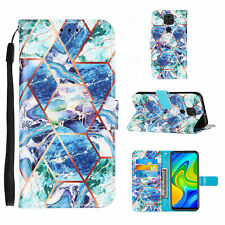 For Xiaomi 11 Poco M3 Note 9S 10T Pro Luxury Marble Flip Wallet Phone Case Cover