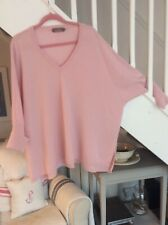 Brodie Pink Cashmere Oversized Tunic Jumper Size L/XL
