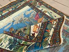 Antique Mohtasham Kashann Pictorial Persian Rug A+ Condition Very Rare!