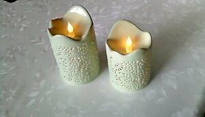 Lumesso Keramik Outdoor LED Kerzen