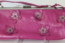 Genuine Leather Naturalizer Hot Pink Flower Handbag Purse