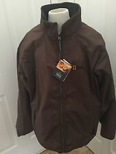 National Geographic Travel Collection Mens Coat Jacket Reversible Size XL Brown